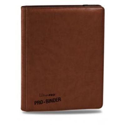 Portfolios Premium Pro-binder - Simili Cuir Marron -  360 Cases (20 Pages De 18)