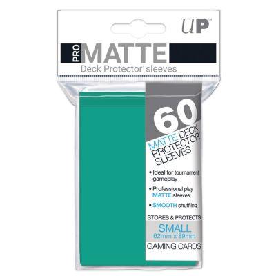 Protèges Cartes Format JAP Sleeves Ultra-pro Mini Par 60 Vert Aquatique Matte