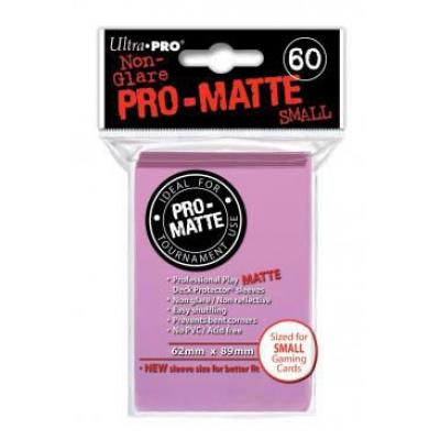 Protèges Cartes Format JAP Sleeves Ultra-pro Mini Par 60 Rose Matte