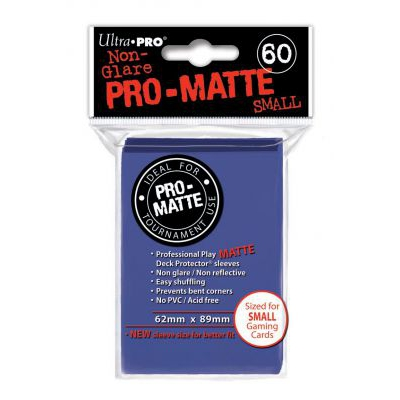 Protèges Cartes Format JAP Sleeves Ultra-pro Mini Par 60 Bleu Foncé Matte