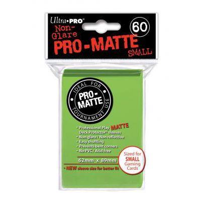 Protèges Cartes Format JAP Sleeves Ultra-pro Mini Par 60 Vert Clair Matte