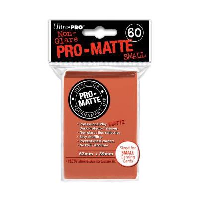 Protèges Cartes Format JAP Sleeves Ultra-pro Mini Par 60 Pêche Matte