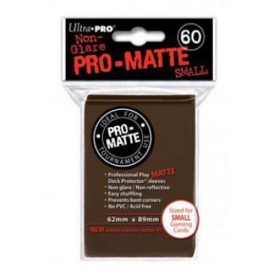 Protèges Cartes Format JAP Sleeves Ultra-pro Mini Par 60 Marron Matte
