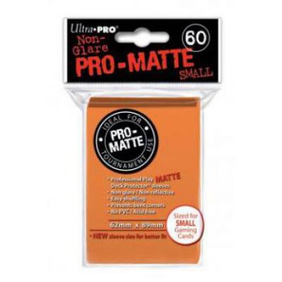 Protèges Cartes Format JAP Sleeves Ultra-pro Mini Par 60 Orange Matte