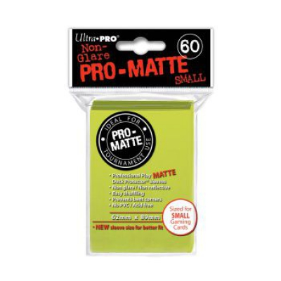 Protèges Cartes Format JAP Sleeves Ultra-pro Mini Par 60 Vert Pistache Matte