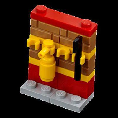 Minifigures City Minifigures Lego City 2012 - 05 - Un Mur Avec Une Hache Et Un Extincteur