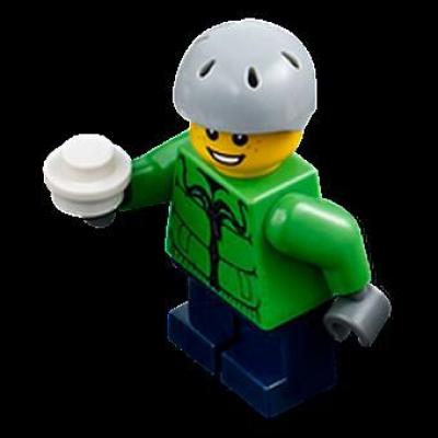 Minifigures City Minifigures Lego City 2012 - 06 - Un Garçon Avec Une Boule De Neige