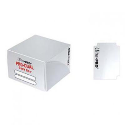 Boites de Rangement Pro-dual Deck Box - Blanc (180 cartes)