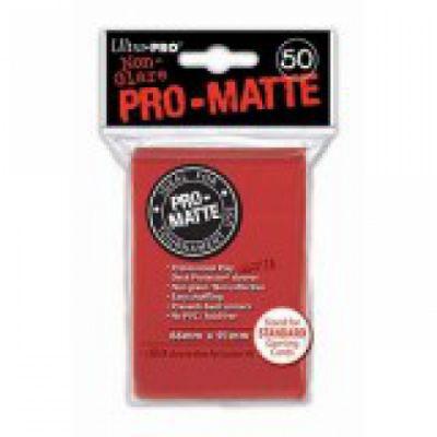 Protèges Cartes Sleeves Ultra-pro Standard Par 50 Rouge Matte