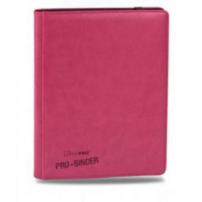 Portfolios Premium Pro-binder - Simili Cuir Rose Bonbon -  360 Cases (20 Pages De 18)