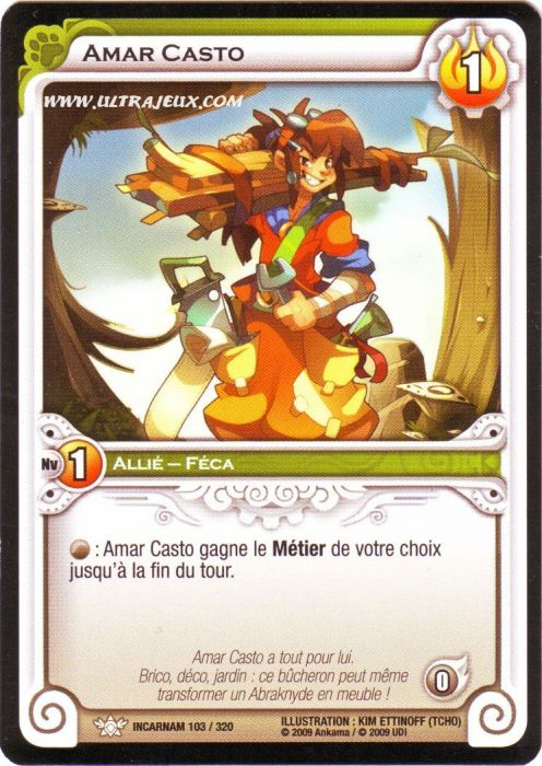ultrajeux amar casto 103 320 carte wakfu dofus cartes l 39 unit fran ais. Black Bedroom Furniture Sets. Home Design Ideas