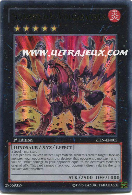 ZTIN ultra rare en Presque comme neuf Numéro 61 volcasaurier-ZTIN-en002 collection Zexal