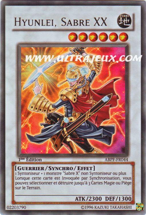 Ultrajeux Hyunlei Sabre Xx Abpf Fr044 Carte Yu Gi Oh Cartes 224 L Unit 233 Fran 231 Ais