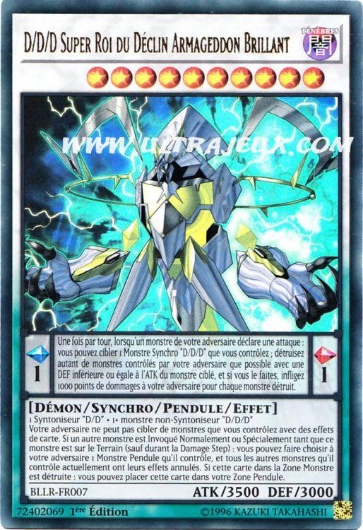 BLLR-FR007 YUGIOH LOT DE 2  D//D//D Super Roi du Déclin Armageddon Brillant VF//