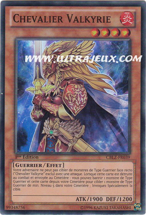 Ultrajeux Chevalier Valkyrie Cblz Fr039 Carte Yu Gi