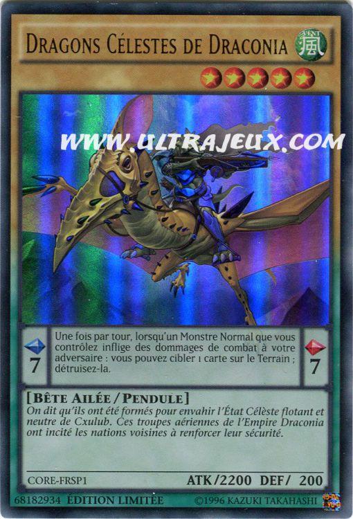 VF//Ultra rare Yu-Gi-Oh Carte Dragons Célestes de Draconia CORE-FRSP1