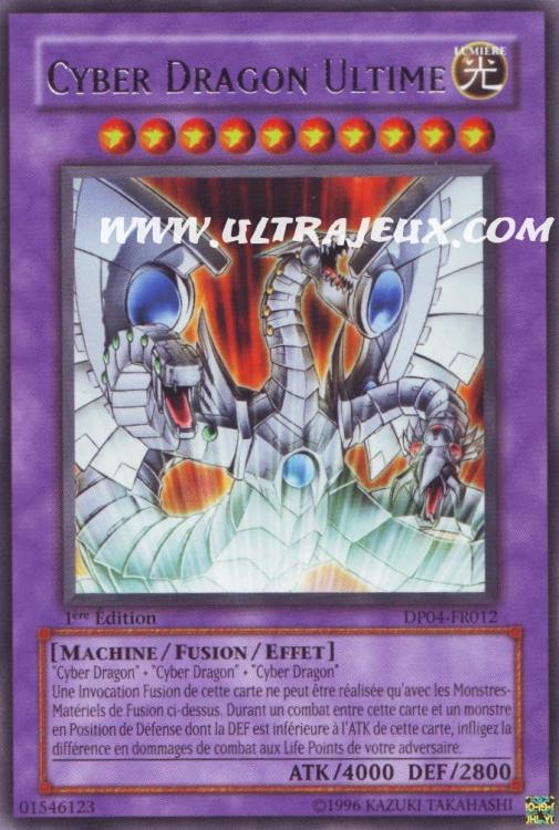 Ultrajeux Cyber Dragon Ultime Dp04 Fr012 Carte Yu Gi Oh Cartes 224 L Unit 233 Fran 231 Ais