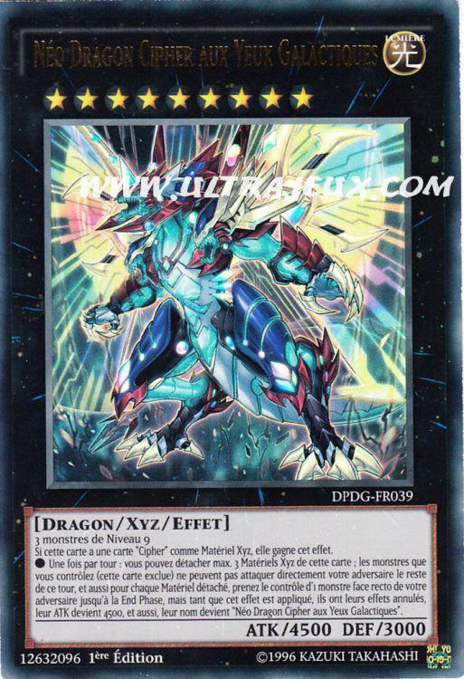 YUGIOH  Néo Dragon Cipher aux Yeux Galactiques  DPDG-FR039 VF//Ultra Rare