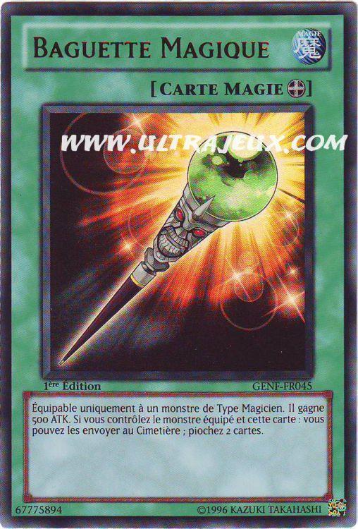 Ultrajeux Baguette Magique Genf Fr045 Carte Yu Gi Oh