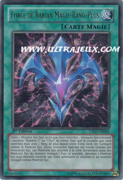 Ultrajeux Force De Barian Magie Rang Plus Ltgy Fr060 Carte Yu Gi Oh Cartes 224 L Unit 233 Fran 231 Ais