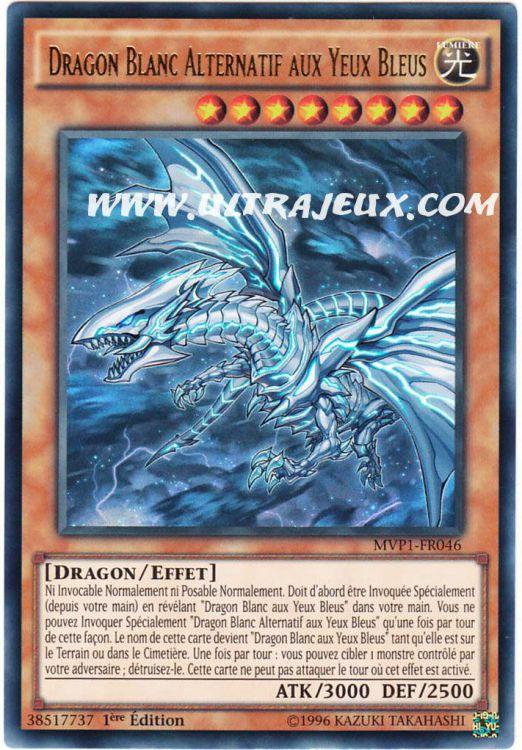 Ultrajeux Dragon Blanc Alternatif Aux Yeux Bleus Mvp1 Fr046 Carte Yu Gi Oh Cartes 224 L