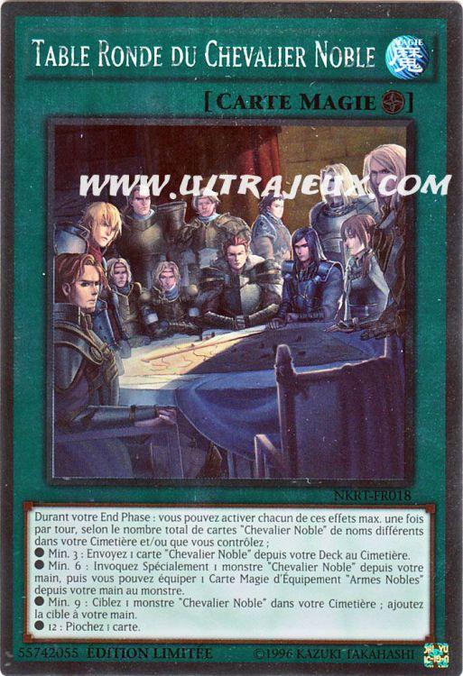 Carte yu gi oh table ronde du chevalier noble nkrt fr018 - Liste des chevaliers de la table ronde ...