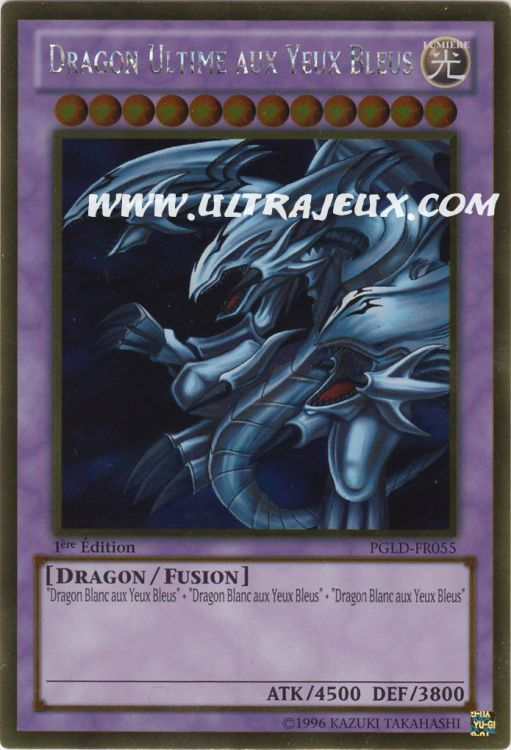 Dragon Utlime aux yeux bleus  PGLD-FR055 Yu-Gi-Oh