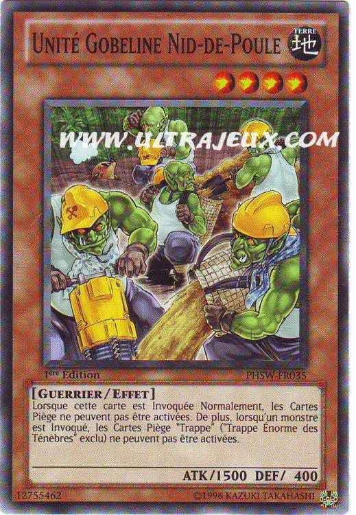 Carte Yu-Gi-Oh! - Unité Gobeline Nid-de-Poule PHSW-FR035