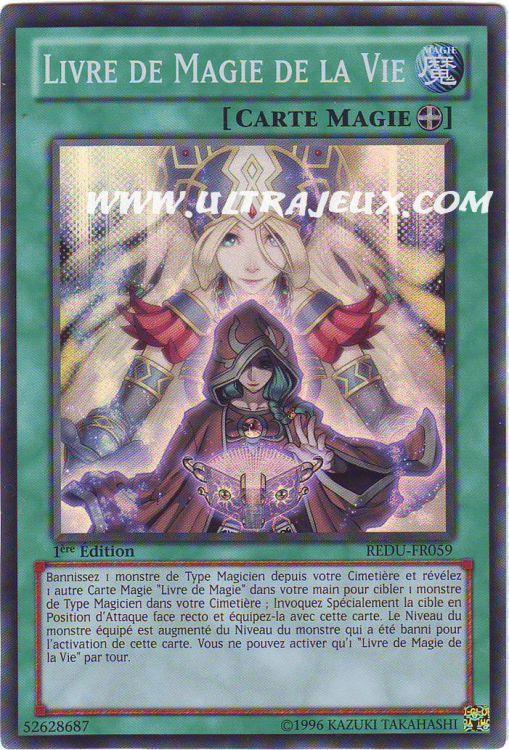 Ultrajeux Livre De Magie De La Vie Redu Fr059 Carte Yu Gi Oh Cartes 224 L Unit 233 Fran 231 Ais
