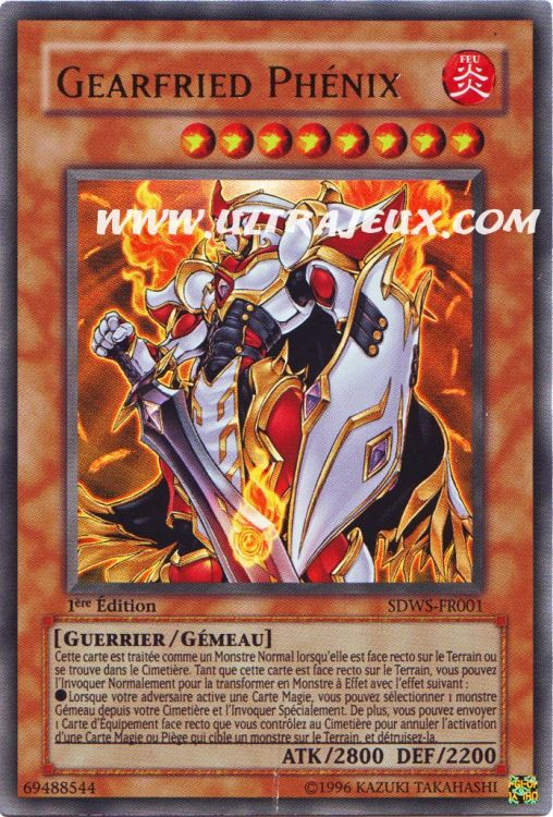 Ultrajeux Gearfried Ph 233 Nix Sdws Fr001 Carte Yu Gi Oh Cartes 224 L Unit 233 Fran 231 Ais