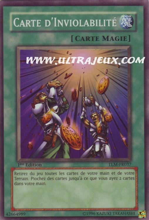 Carte Yu Gi Oh Carte D Inviolabilit 233 Tlm Fr037