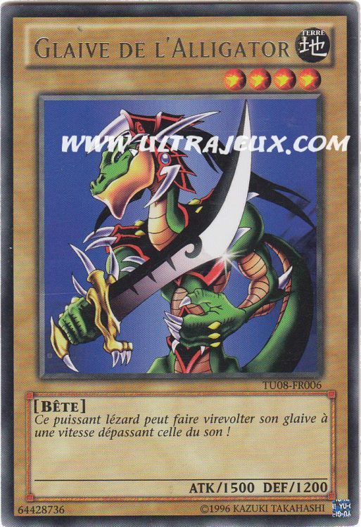 Ultrajeux Glaive De L Alligator Tu08 Fr006 Carte Yu