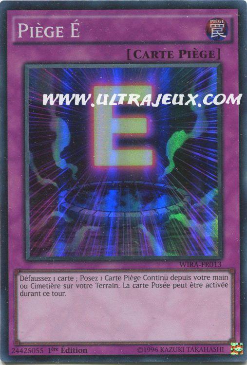 carte piege yu gi oh Yu Gi Oh Super rare Piège É WIRA FR013 petzlife.com