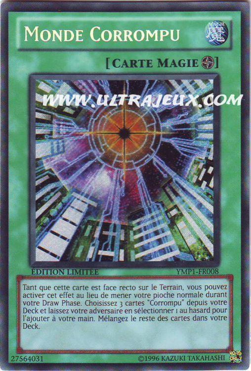 Ultrajeux Monde Corrompu Ymp1 Fr008 Carte Yu Gi Oh Cartes 224 L Unit 233 Fran 231 Ais