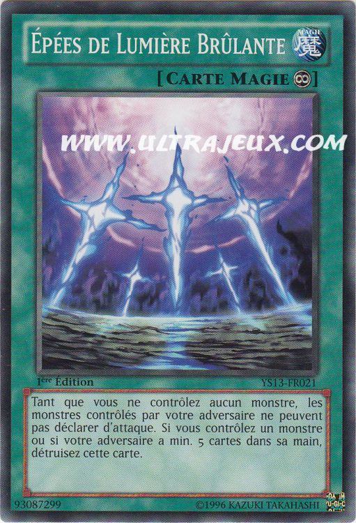 ultrajeux ep es de lumi re br lante ys13 fr021 carte yu gi oh cartes l 39 unit fran ais. Black Bedroom Furniture Sets. Home Design Ideas